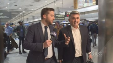 We caught up with Sen. Gardner at the airport to ask if he supports new witnesses in impeachment trial