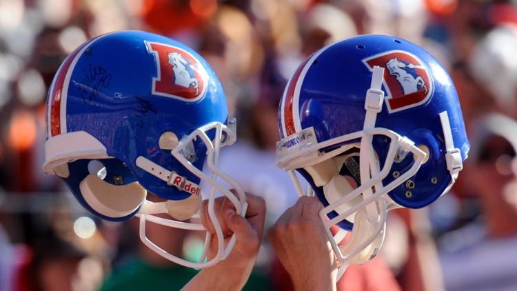Broncos Flip Helmet Logo In Time For Game Against Bills 9news Com