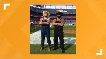 These 2 Denver Broncos wore overalls as their pregame outfit and we're here for it