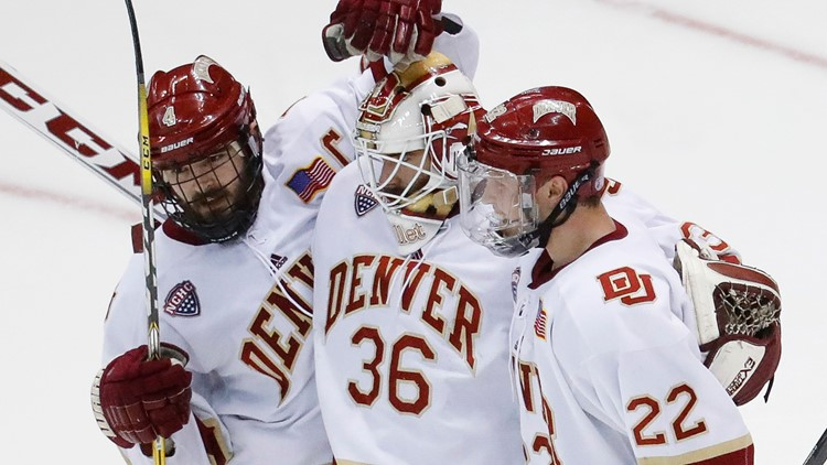 Denver Pioneers DU hockey  AP