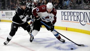 Kings extend win streak to 6, Avs' MacKinnon injured