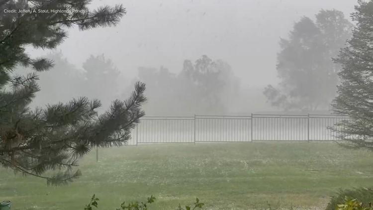 Heavy rain, hail move through southern metro area