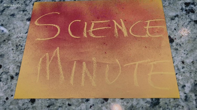 Science Minute: Using goldenrod colored paper