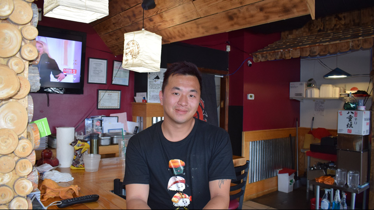 David Trinh owns Sushi Yama, and says he tries to make sushi as good as the kind in California.