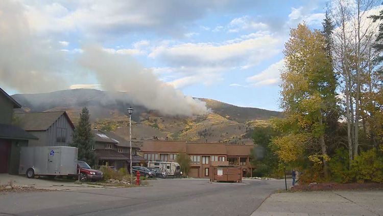 Fire burning 25-30 acres above Silverthorne forces evacuations