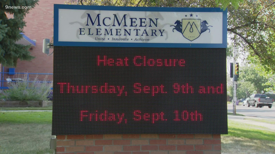 7 schools to close or dismiss early due to heat