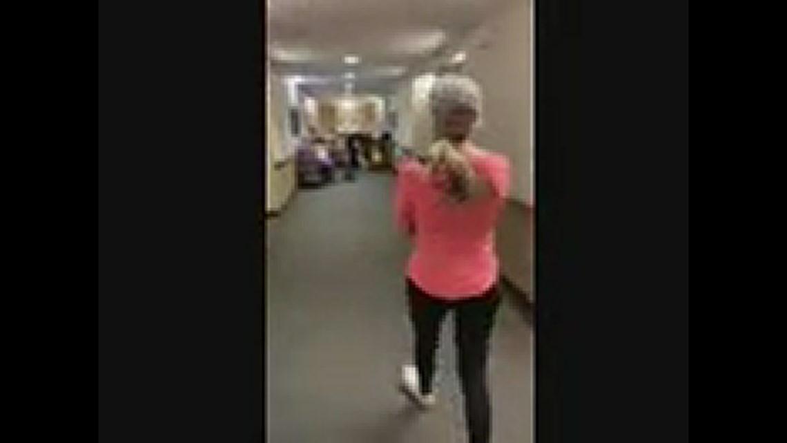 hug in senior living facility