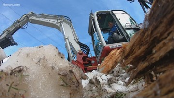Work underway to clear avalanche debris from Ten Mile Canyon