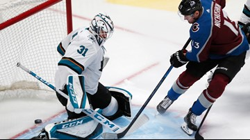 Avalanche dominate Sharks, snap winless streak
