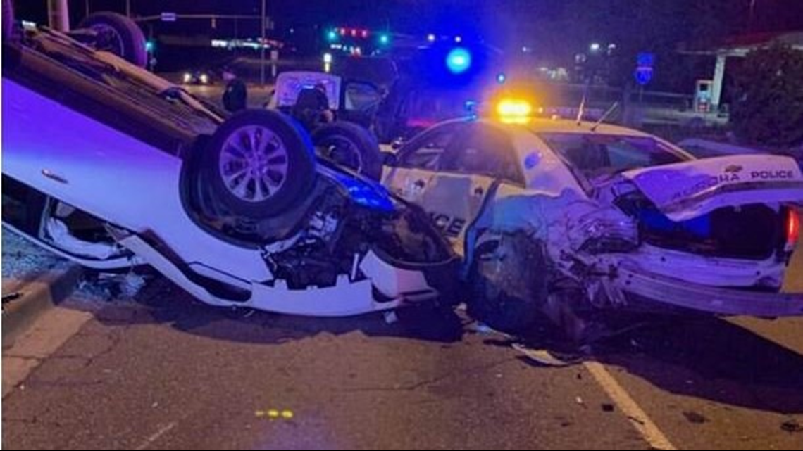 Driver arrested on suspicion of DUI after crashing into