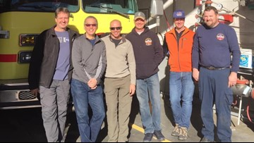 When a fire engine bound for Mexico broke down in Colorado, local firefighters stepped up to help
