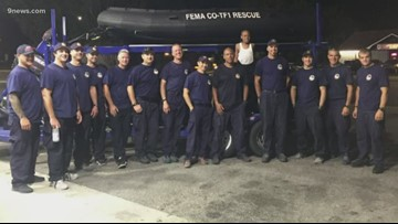 Emergency responders with Colorado Task Force One cross paths with boy they helped a year earlier