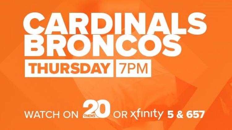 Broncos vs Cardinals THURSDAY