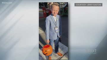 This 9-year-old dressed up as Kyle Clark for Halloween