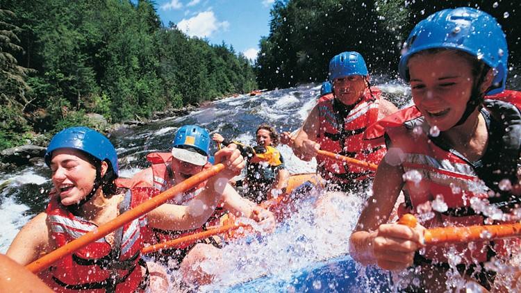 rafting river fun kayaking