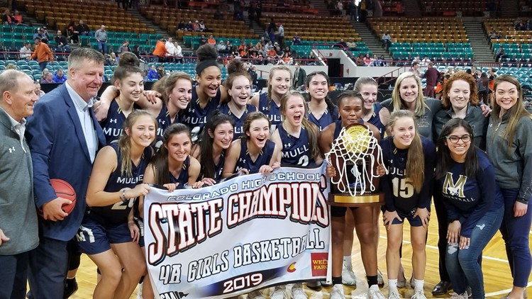 Mullen girls basketball 4A championship 2019