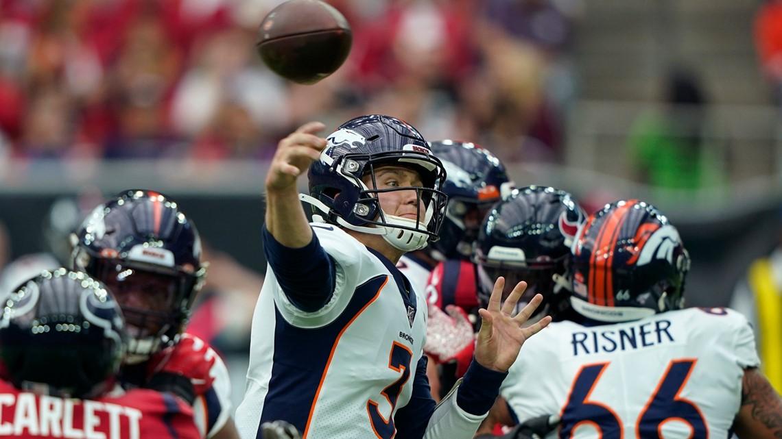 Lock Shines In Road Debut Broncos Surprise Texans 38 24