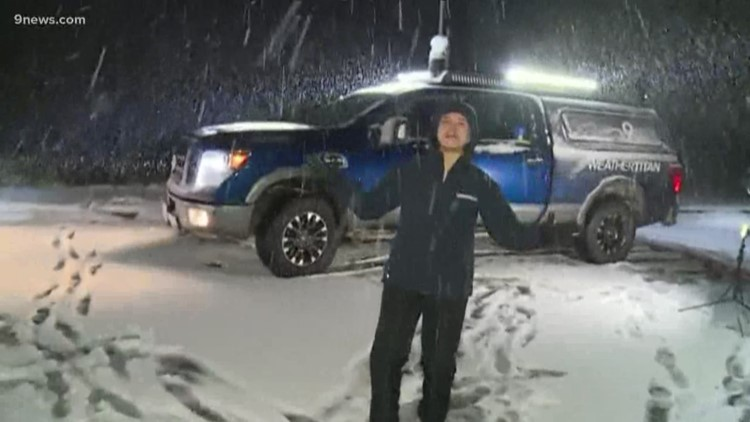 Belen and Cory brave the storm in the Weather Titan