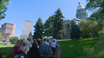 Colorado celebrates Women's Equality Day on the steps of the Capitol