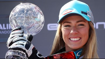 Shiffrin, Paris win World Cup super-G titles