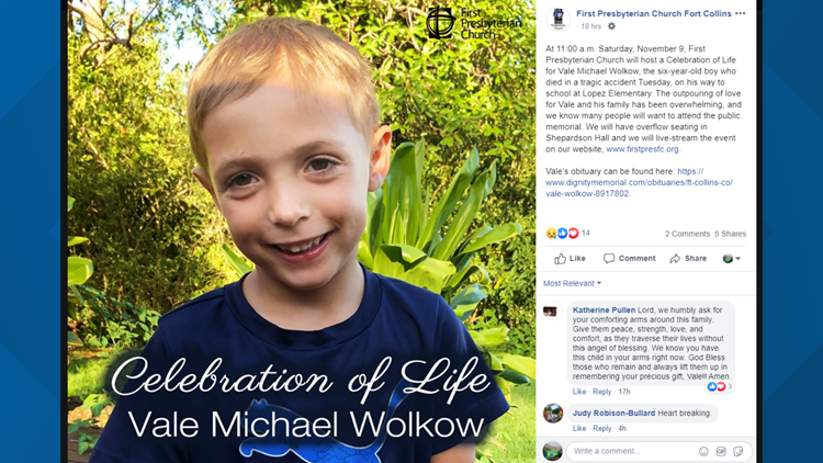 Celebration of life ceremony for Vale Wolkow