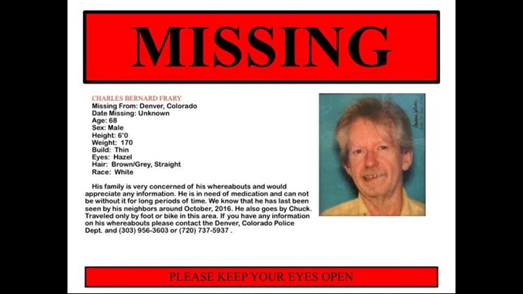 The missing persons poster for Chuck Frary.