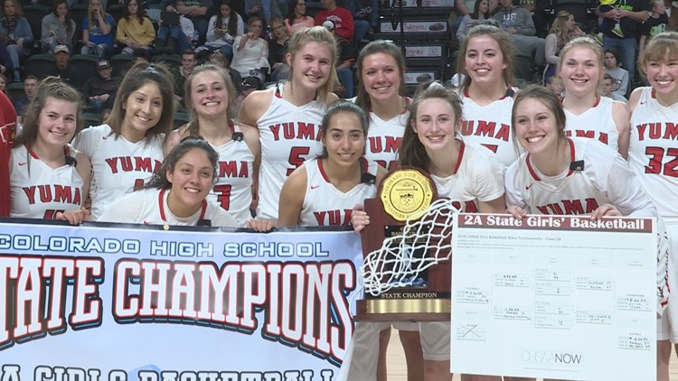 The Yuma girls basketball team won their second straight Class 2A title with a 41-25 victory over Swink on Saturday night at the Budweiser Events Center in Loveland, CO.
