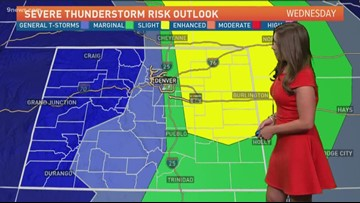 Quiet and dry for urban corridor, severe storms possible for eastern plains