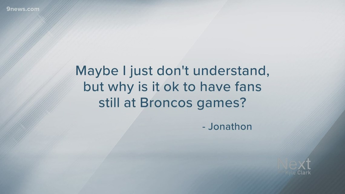 Next Question: Why can Denver Broncos still have fans in stadium during COVID surge?