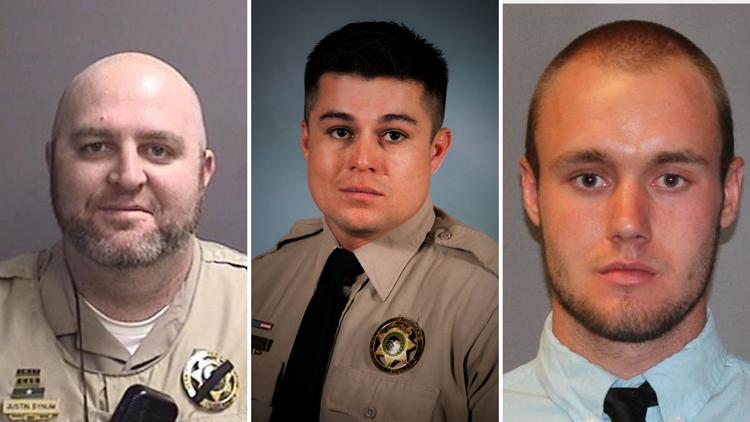 Sgt. Justin Bynum, Deputy Caleb Harper and Deputy Brandon Worley