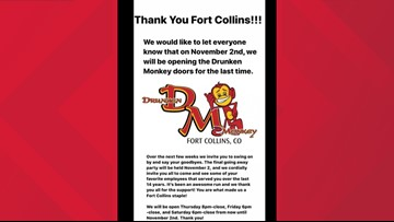 Drunken Monkey to close after 14 years in Fort Collins