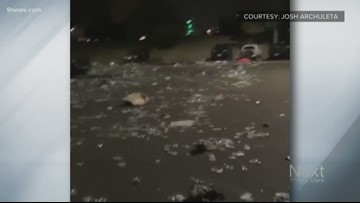 Crews left to clean up huge mess after Rocky Mountain Showdown at Mile High Stadium