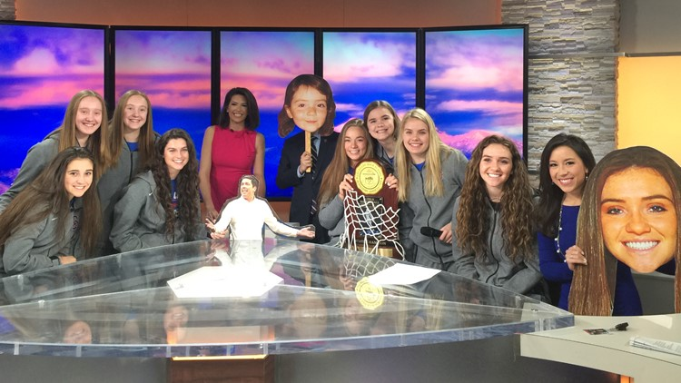 Cherry Creek girls' basketball 5A champions visit 9NEWS