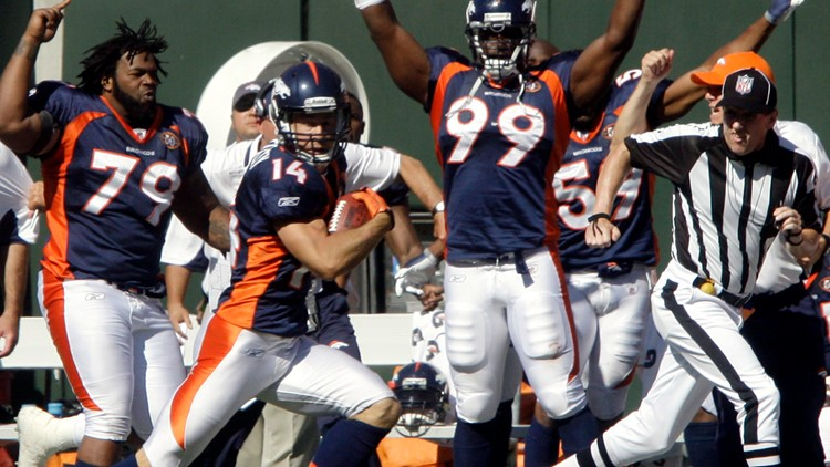 Broncos Immaculate Deflection Football Brandon Stokley