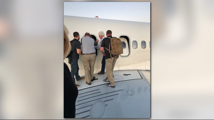 A look at passengers on the wing of a Delta plane at DIA (Photo: Rachel Naftel)