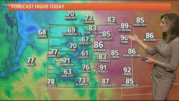 Warm and gusty for Friday, then cooler by the weekend