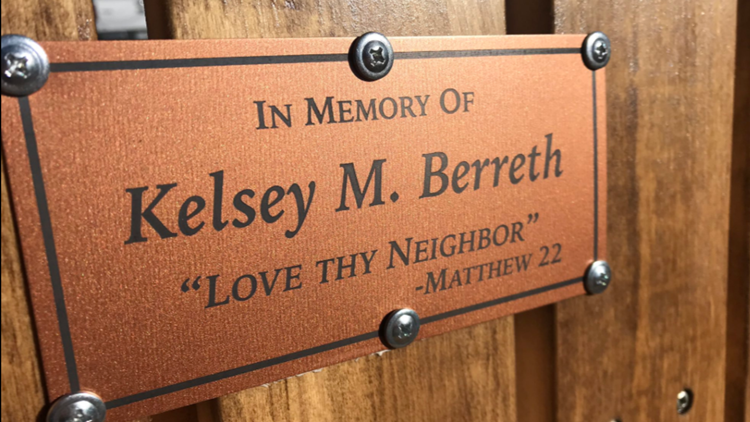 Kelsey Berreth Memorial Bench Woodland Park