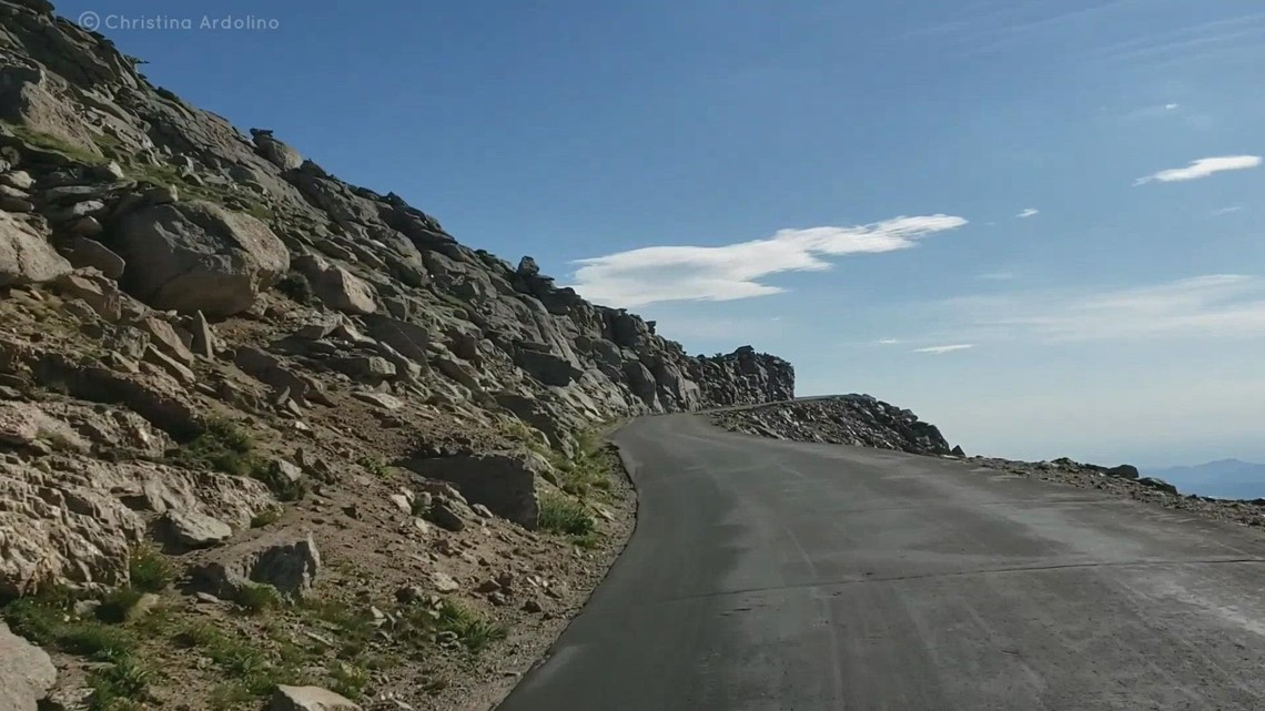 Watch the drive up Mt Evans