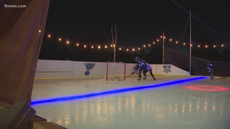 Parker family builds hockey rink in backyard