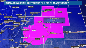 Blizzard Warning to be issued for plains counties Monday night ahead of winter storm