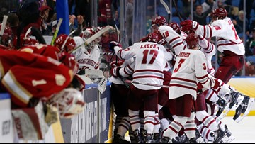 Del Gaizo seals UMass' 4-3 OT win over Denver Pioneers