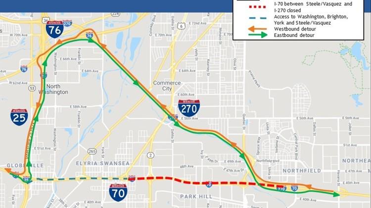 Full weekend closure of I-70 at I-270 begins Friday | 9news.com