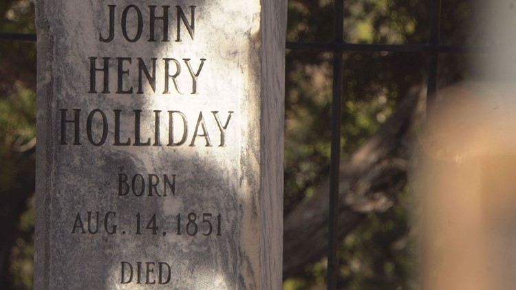 Doc Holiday tombstone.