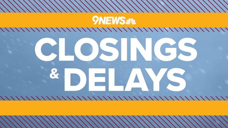 Closings and delays in Colorado