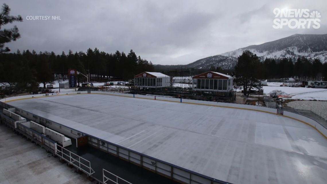 Avs ready for outdoor game at Lake Tahoe