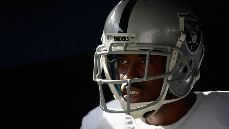 Marquette King waits in the tunnel before taking the field to play against the San Diego Chargers at Qualcomm Stadium on November 16, 2014.