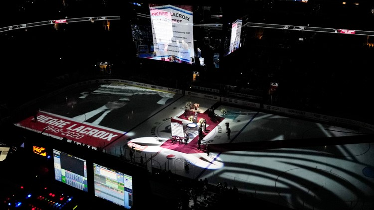 Avalanche raise Pierre Lacroix banner to rafters