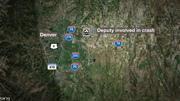 Adams County deputy involved in rollover crash, I-70 shut down near Watkins