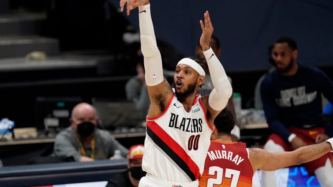Nuggets kick off playoff series with Blazers, Carmelo Anthony
