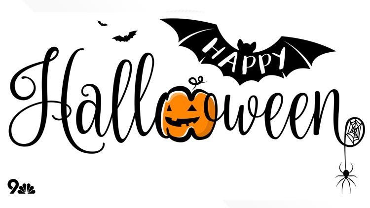 Happy Halloween 9NEWS white